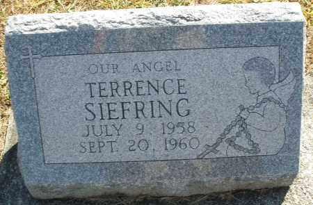 SIEFRING, TERRENCE - Darke County, Ohio | TERRENCE SIEFRING - Ohio Gravestone Photos