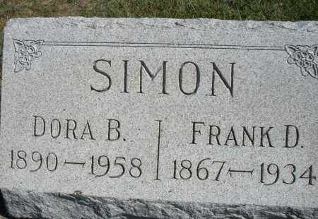 SIMON, DORA B. - Darke County, Ohio | DORA B. SIMON - Ohio Gravestone Photos