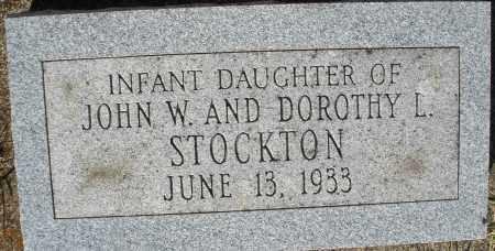STOCKTON, INFANT DAUGHTER - Darke County, Ohio | INFANT DAUGHTER STOCKTON - Ohio Gravestone Photos