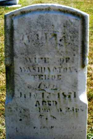 TEBUE ?, WIFE - Darke County, Ohio | WIFE TEBUE ? - Ohio Gravestone Photos