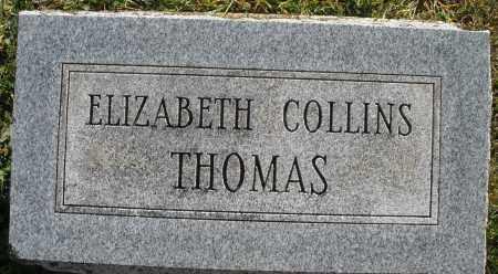 COLLINS THOMAS, ELIZABETH - Darke County, Ohio | ELIZABETH COLLINS THOMAS - Ohio Gravestone Photos