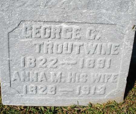 TROUTWINE, GEORGE - Darke County, Ohio | GEORGE TROUTWINE - Ohio Gravestone Photos