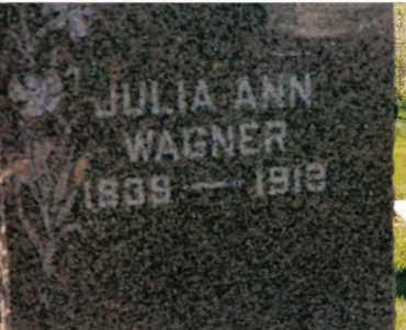 WAGNER, JULIA ANN - Darke County, Ohio | JULIA ANN WAGNER - Ohio Gravestone Photos