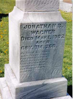WAGNER, JONATHAN B. - Darke County, Ohio | JONATHAN B. WAGNER - Ohio Gravestone Photos
