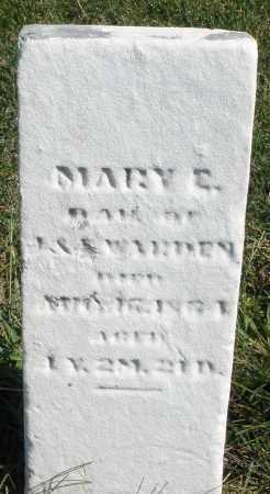 WARDEN, MARY C. - Darke County, Ohio | MARY C. WARDEN - Ohio Gravestone Photos