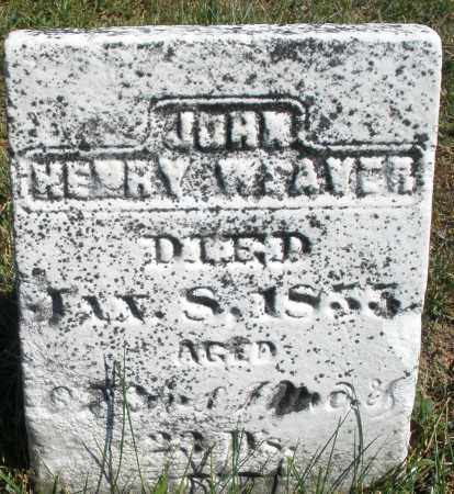 WEAVER, JOHN HENRY - Darke County, Ohio | JOHN HENRY WEAVER - Ohio Gravestone Photos