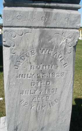 WEAVER, JACOB - Darke County, Ohio | JACOB WEAVER - Ohio Gravestone Photos