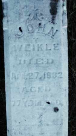 WEIKLE, JOHN - Darke County, Ohio | JOHN WEIKLE - Ohio Gravestone Photos