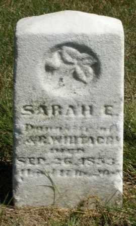 WHITACRE, SARAH E. - Darke County, Ohio | SARAH E. WHITACRE - Ohio Gravestone Photos