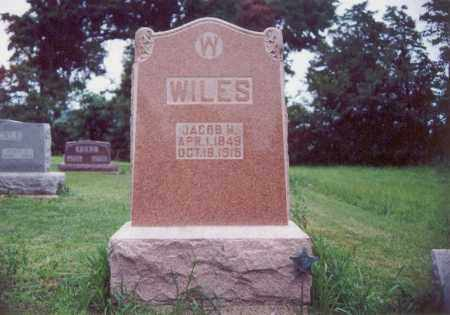 WILES, JACOB H. - Darke County, Ohio | JACOB H. WILES - Ohio Gravestone Photos