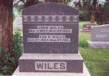 WILES, JOHN - Darke County, Ohio | JOHN WILES - Ohio Gravestone Photos