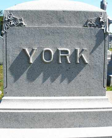YORK, MONUMENT - Darke County, Ohio   MONUMENT YORK - Ohio Gravestone Photos