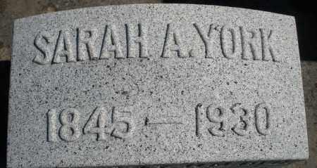 YORK, SARAH A. - Darke County, Ohio | SARAH A. YORK - Ohio Gravestone Photos