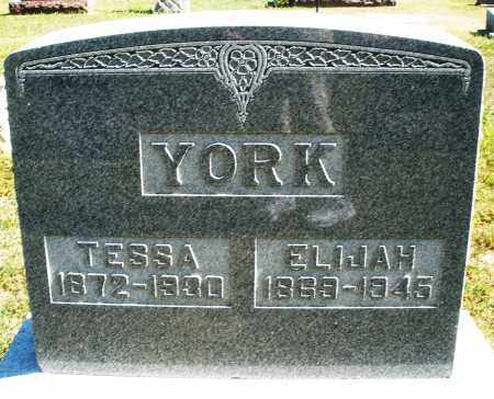 YORK, TESSA - Darke County, Ohio | TESSA YORK - Ohio Gravestone Photos