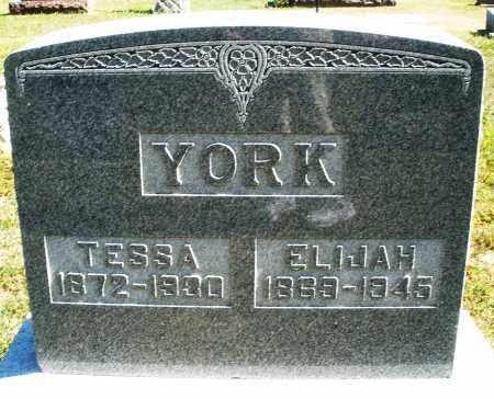 YORK, ELIJAH - Darke County, Ohio | ELIJAH YORK - Ohio Gravestone Photos