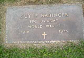 BABINGER, GUY F - Defiance County, Ohio   GUY F BABINGER - Ohio Gravestone Photos