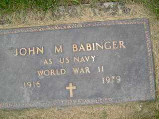 BABINGER, JOHN M - Defiance County, Ohio | JOHN M BABINGER - Ohio Gravestone Photos