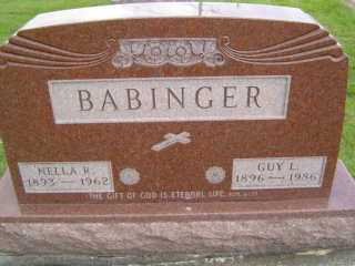 BABINGER, MELLA  R - Defiance County, Ohio | MELLA  R BABINGER - Ohio Gravestone Photos