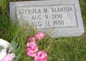 BLANTON, GLENOLA M - Defiance County, Ohio | GLENOLA M BLANTON - Ohio Gravestone Photos