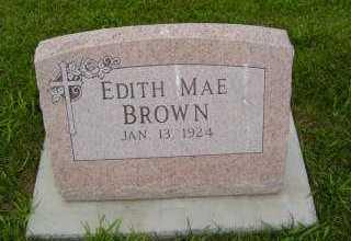 BROWN, EDITH MAE - Defiance County, Ohio | EDITH MAE BROWN - Ohio Gravestone Photos