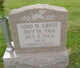 GRANT, TODD  M - Defiance County, Ohio   TODD  M GRANT - Ohio Gravestone Photos