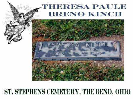 PAULE BRENO KINCH, THERESIA - Defiance County, Ohio | THERESIA PAULE BRENO KINCH - Ohio Gravestone Photos
