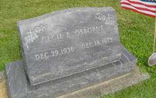 OSBORNE, CECIL E - Defiance County, Ohio   CECIL E OSBORNE - Ohio Gravestone Photos