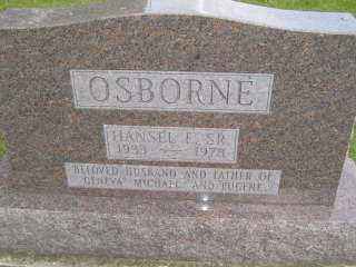 OSBORNE, HANSEL E SR - Defiance County, Ohio | HANSEL E SR OSBORNE - Ohio Gravestone Photos