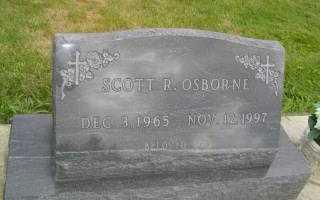 OSBORNE, SCOTT R - Defiance County, Ohio | SCOTT R OSBORNE - Ohio Gravestone Photos