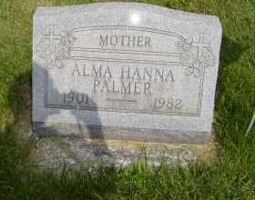 PALMER, ALMA - Defiance County, Ohio   ALMA PALMER - Ohio Gravestone Photos