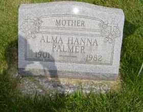 HANNA PALMER, ALMA - Defiance County, Ohio | ALMA HANNA PALMER - Ohio Gravestone Photos