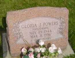 VANDEMARK POWERS, GLORIA  J - Defiance County, Ohio | GLORIA  J VANDEMARK POWERS - Ohio Gravestone Photos