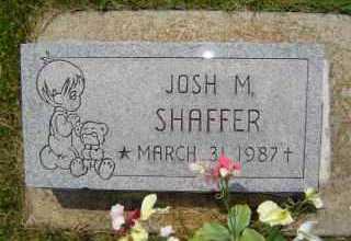 SHAFFER, JOSH M - Defiance County, Ohio | JOSH M SHAFFER - Ohio Gravestone Photos