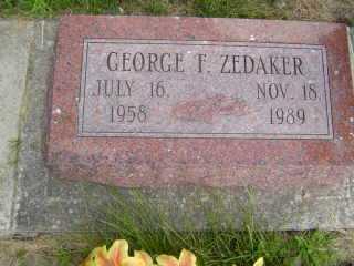 ZEDAKER, GEORGE F - Defiance County, Ohio | GEORGE F ZEDAKER - Ohio Gravestone Photos
