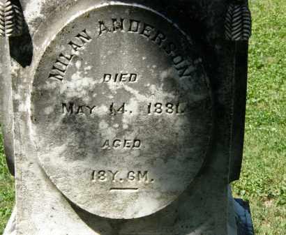 ANDERSON, MILAN - Delaware County, Ohio | MILAN ANDERSON - Ohio Gravestone Photos
