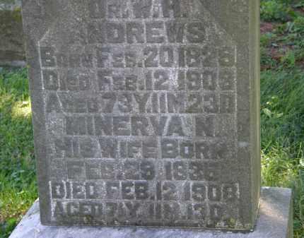 ANDREWS, DR. W.H. - Delaware County, Ohio | DR. W.H. ANDREWS - Ohio Gravestone Photos