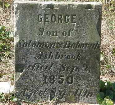 ASHBROOK, GEORGE - Delaware County, Ohio   GEORGE ASHBROOK - Ohio Gravestone Photos