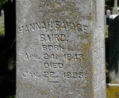 SAVAGE BAIRD, HANNAH - Delaware County, Ohio | HANNAH SAVAGE BAIRD - Ohio Gravestone Photos