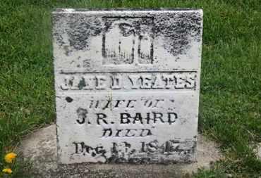 BAIRD, J.R. - Delaware County, Ohio | J.R. BAIRD - Ohio Gravestone Photos