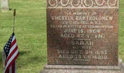 BARTHOLOMEW, SARAH - Delaware County, Ohio   SARAH BARTHOLOMEW - Ohio Gravestone Photos