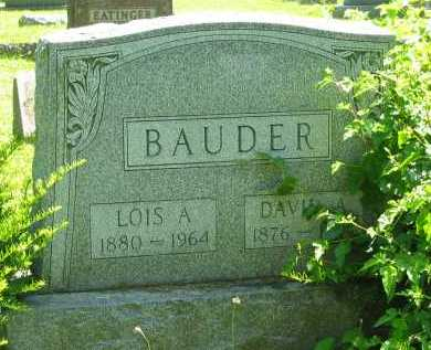 BAUDER, DAVID AUGUSTUS - Delaware County, Ohio | DAVID AUGUSTUS BAUDER - Ohio Gravestone Photos