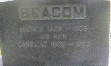 BEACOM, MATTHEW - Delaware County, Ohio | MATTHEW BEACOM - Ohio Gravestone Photos