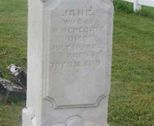 BENEDICT, JANE - Delaware County, Ohio | JANE BENEDICT - Ohio Gravestone Photos