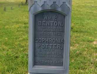 POTTER BENTON, SOPHRONIA - Delaware County, Ohio | SOPHRONIA POTTER BENTON - Ohio Gravestone Photos
