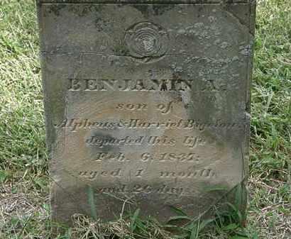 BIGELOW, BENJAMIN A. - Delaware County, Ohio   BENJAMIN A. BIGELOW - Ohio Gravestone Photos