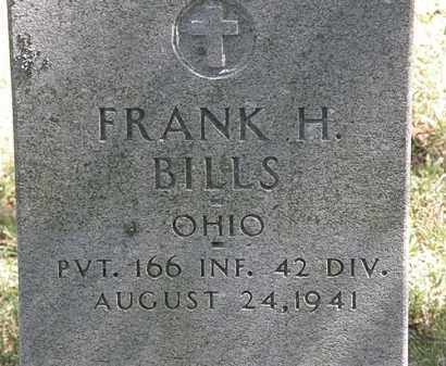 BILLS, FRANK H. - Delaware County, Ohio | FRANK H. BILLS - Ohio Gravestone Photos