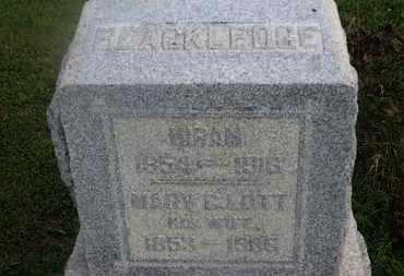 BLACKLEDGE, HIRAM - Delaware County, Ohio | HIRAM BLACKLEDGE - Ohio Gravestone Photos