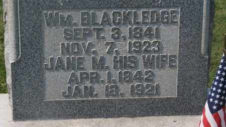 BLACKLEDGE, WM. - Delaware County, Ohio | WM. BLACKLEDGE - Ohio Gravestone Photos