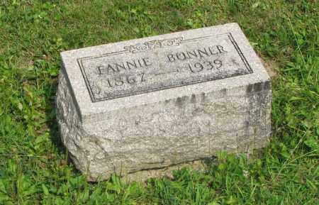 BONNER, FANNIE - Delaware County, Ohio | FANNIE BONNER - Ohio Gravestone Photos