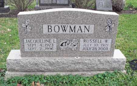 JENKINS BOWMAN, JACQUELINE LOUISE - Delaware County, Ohio | JACQUELINE LOUISE JENKINS BOWMAN - Ohio Gravestone Photos